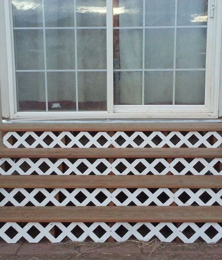 s creative ways to give your entrance a fresh look, Add lattice to your front stairs
