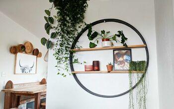 DIY Circle Shelf - From Salvaged Wagon Wheel