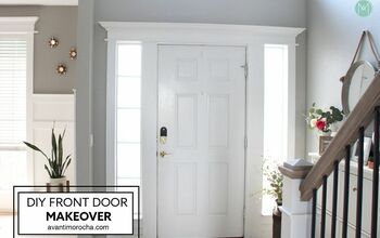 DIY Front Door Makeover - Crown Molding