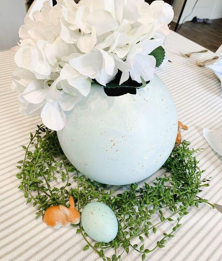 plaster easter egg vase
