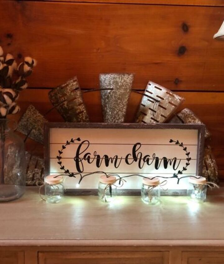 s is the farmhouse trend over 15 projects that will make you say no, These pretty string lights