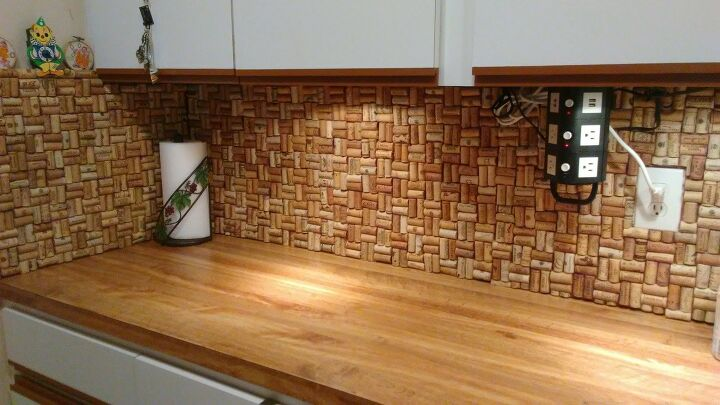 s 14 different accent wall ideas that are not faux brick, Cover it in corks