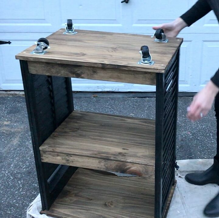 grab an old shutter for this multi purpose kitchen idea