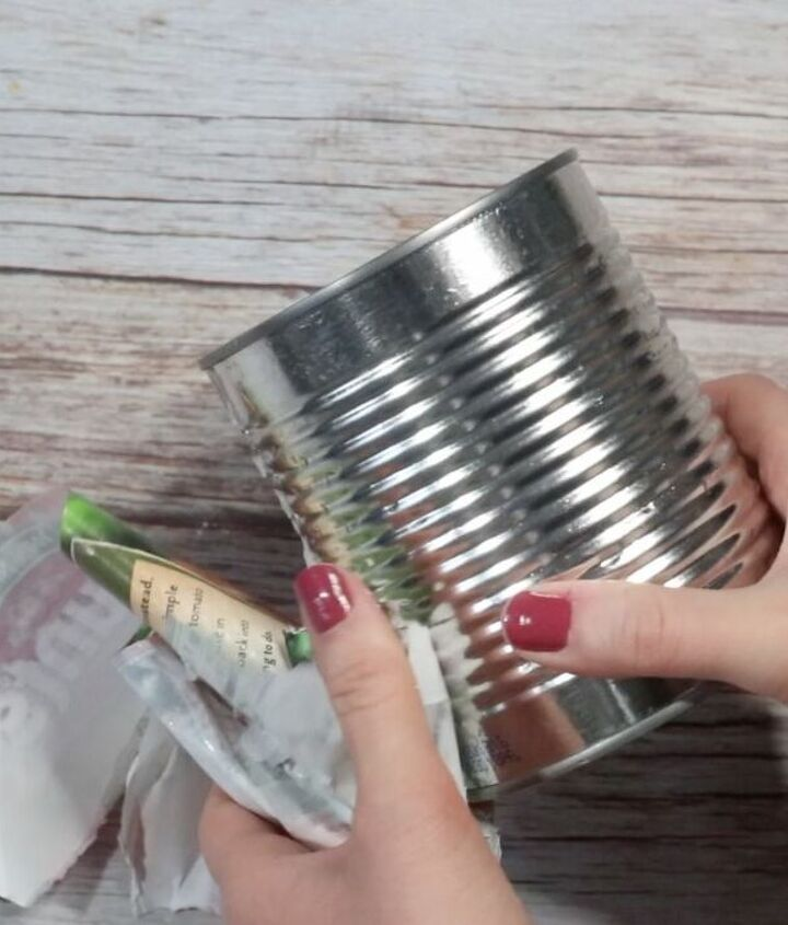 recycle a tin can into this fake high end planter