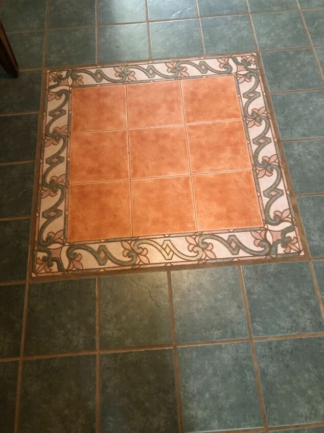 q how do i handle inlay on painted tile floor