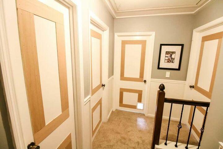 add molding to flat panel interior doors