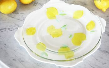 DIY Patterned Glass Plate