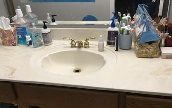 How to resurface an acrylic bathroom counter top?