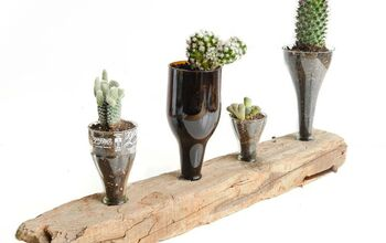 Creative Things to Do With Glass Bottles - Upcycled Cacti Planter