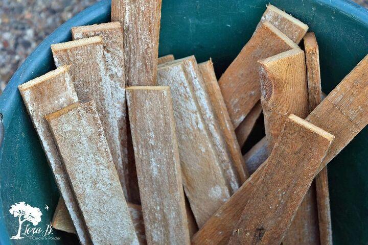 repurposed wood lath runner