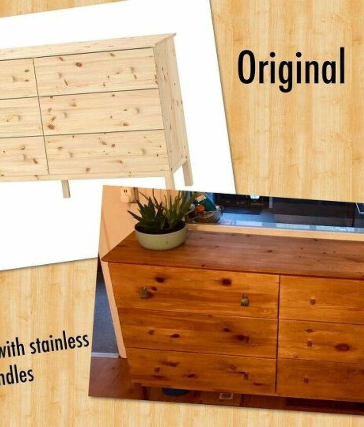 leather handles on a tarva dresser less is more project