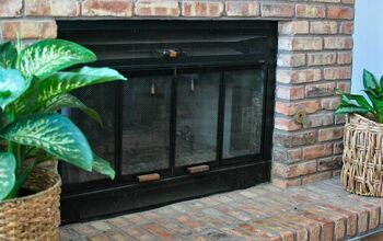 Paint Your Fireplace Brass Trim for an Instant Updated Look!