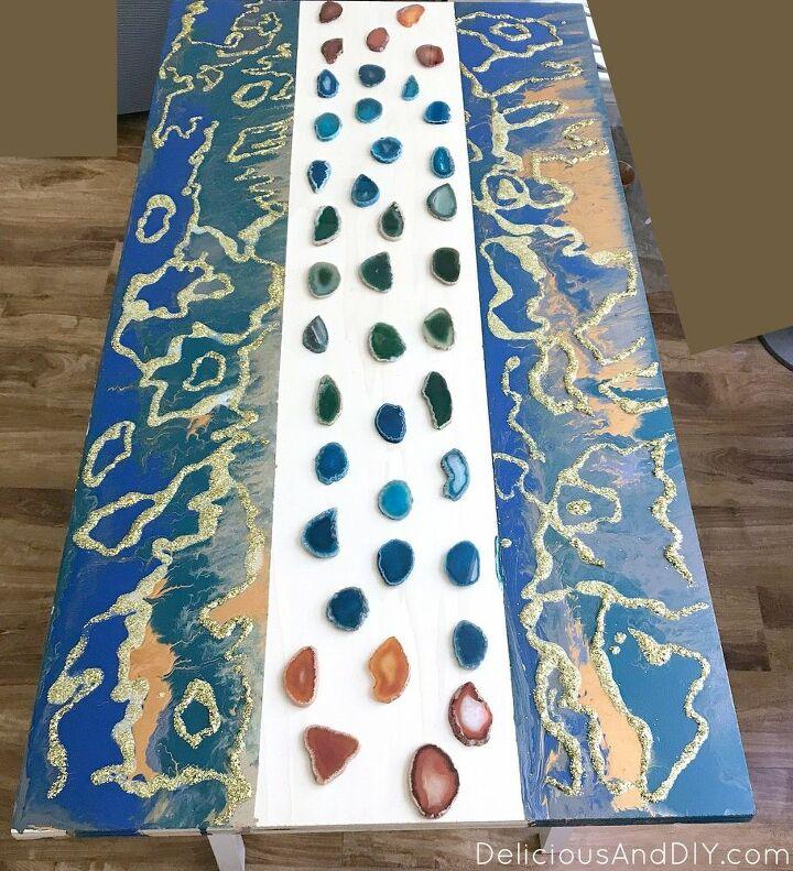 diy marbled resin coffee table