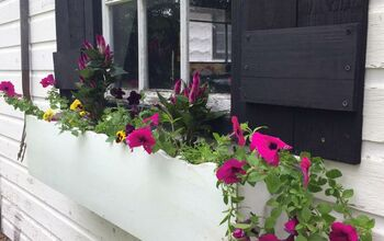 Milk-house Window Shutters and Planter From Scrap Wood.