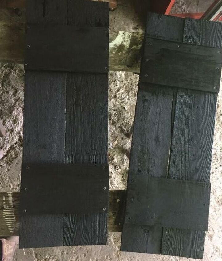 Shutters out of scrap wood.