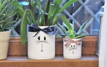 How to DIY a Funny Bunny Tin Can Planter