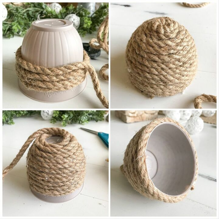 a faux miniature bee skep