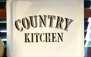 Upcycled Metal Pan Into Country Kitchen Tray