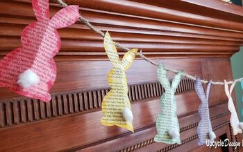 Bunny Garland and Paper Mache Eggs – Upcycled Easter DIY