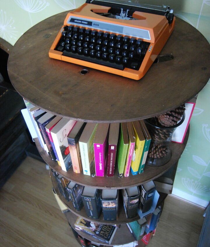 A Cable Reel Bookcase