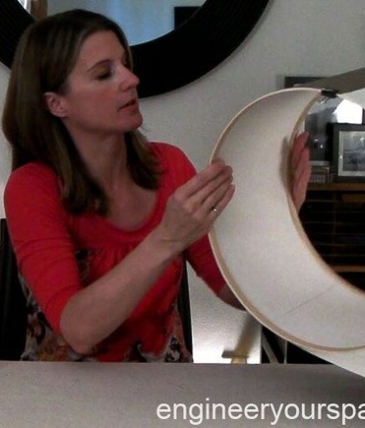 hiding an ugly ceiling fixture with a diy drum shade renter friendly