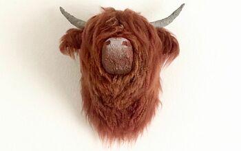 Papier-mâché Highland Cow Mount