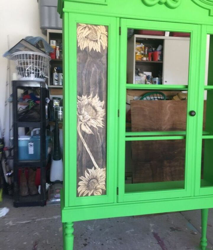 your painting it green hutch top makeover