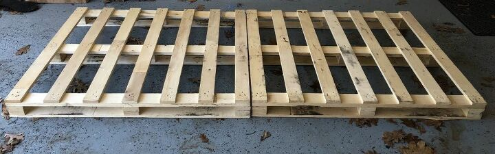 "Pallets are approximately 36 1/2"" x 43"""