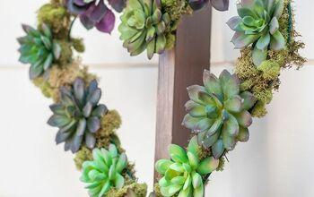 DIY Heart Succulent Wreath