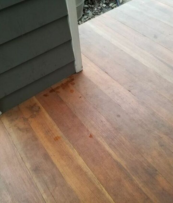 q how do i clean a wooden front porch