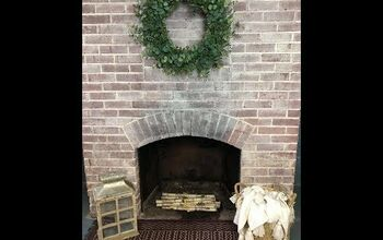 The Easy Way to Whitewash a Brick Fireplace - In Under an Hour.
