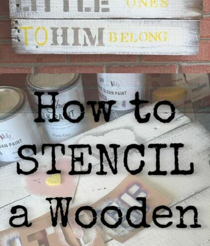how to stencil a woden sign