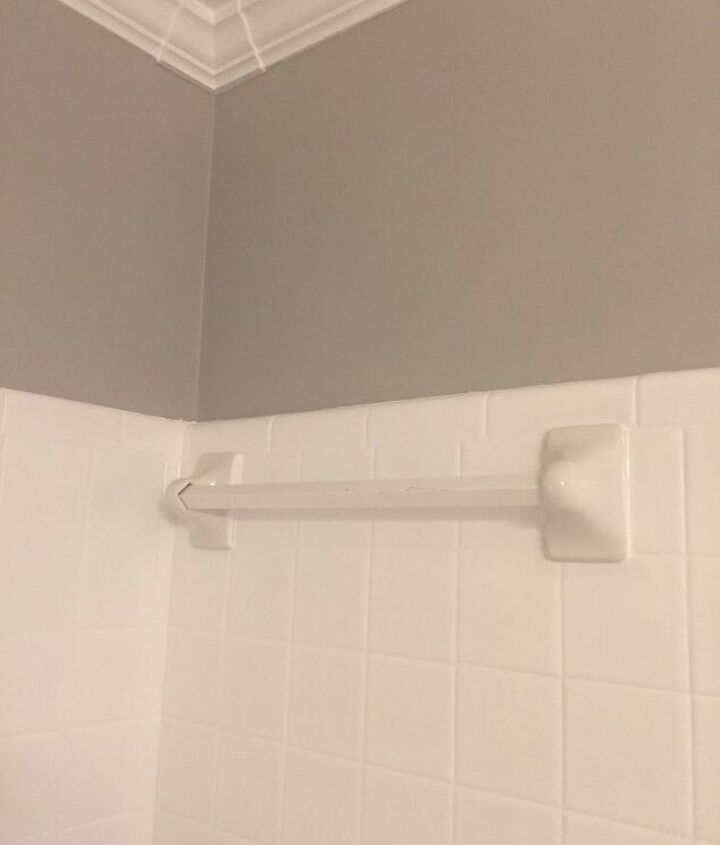q how can i transform a towel bar in the shower to a shelf