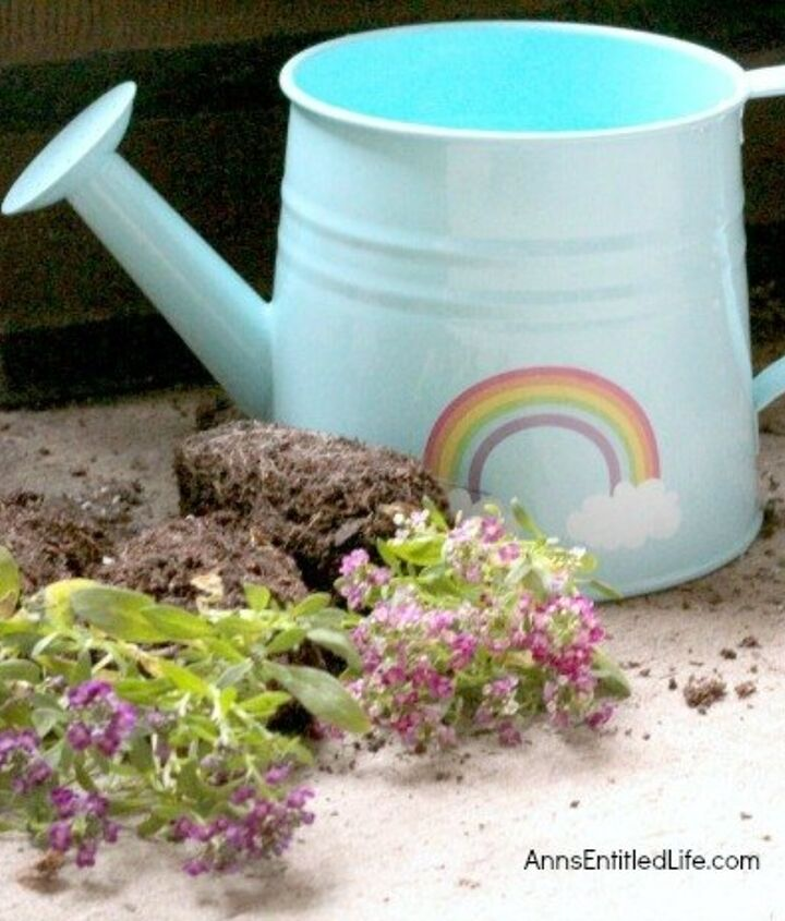 make a watering can planter