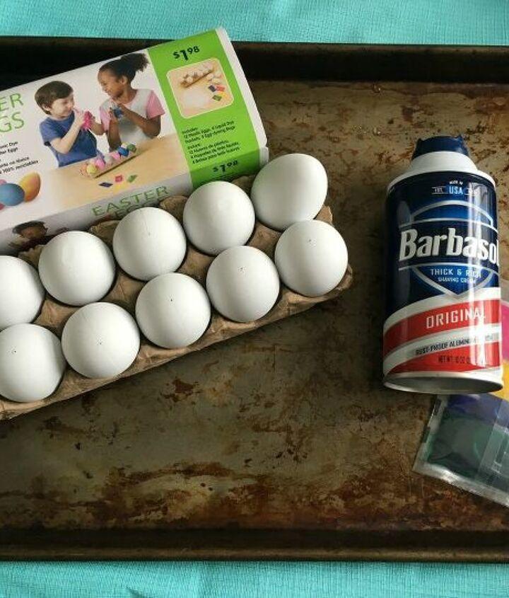 how to make tye dye shaving cream easter eggs