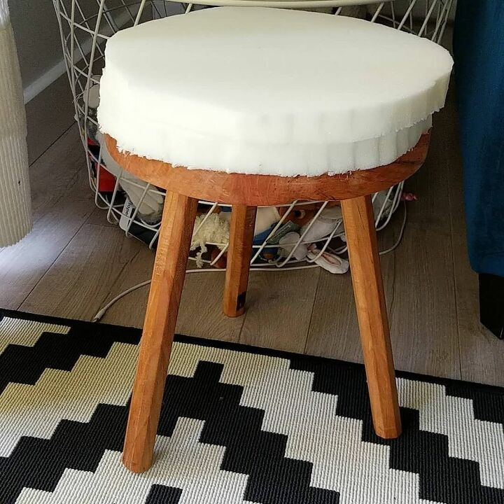 Stupendous How To Make Over An Old Stool Diy Hometalk Pabps2019 Chair Design Images Pabps2019Com