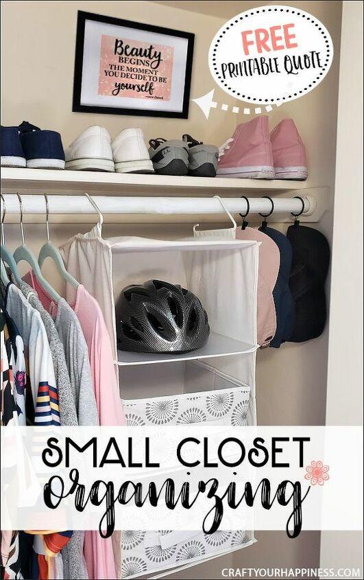 small closet organizing tips ideas