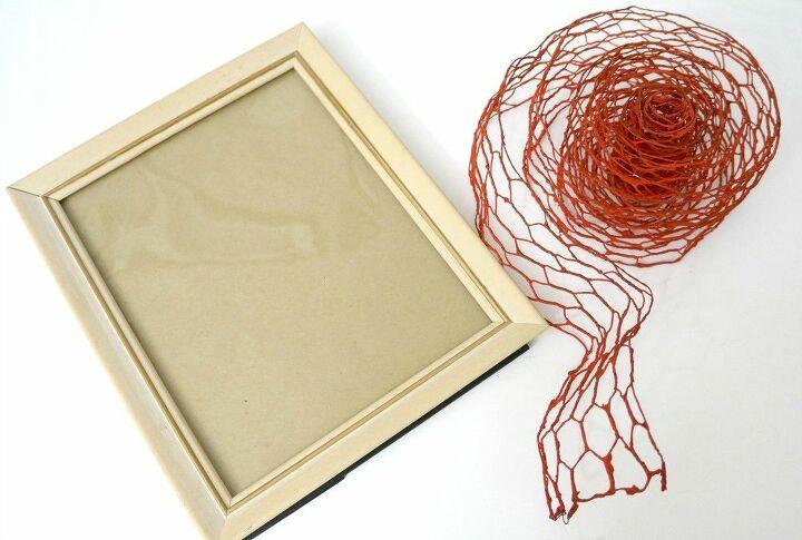 faux chicken wire frame