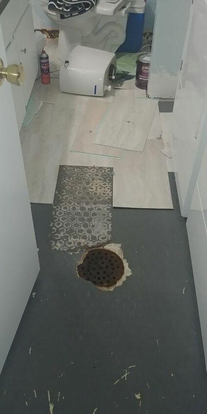 q basement laundry room floor woes