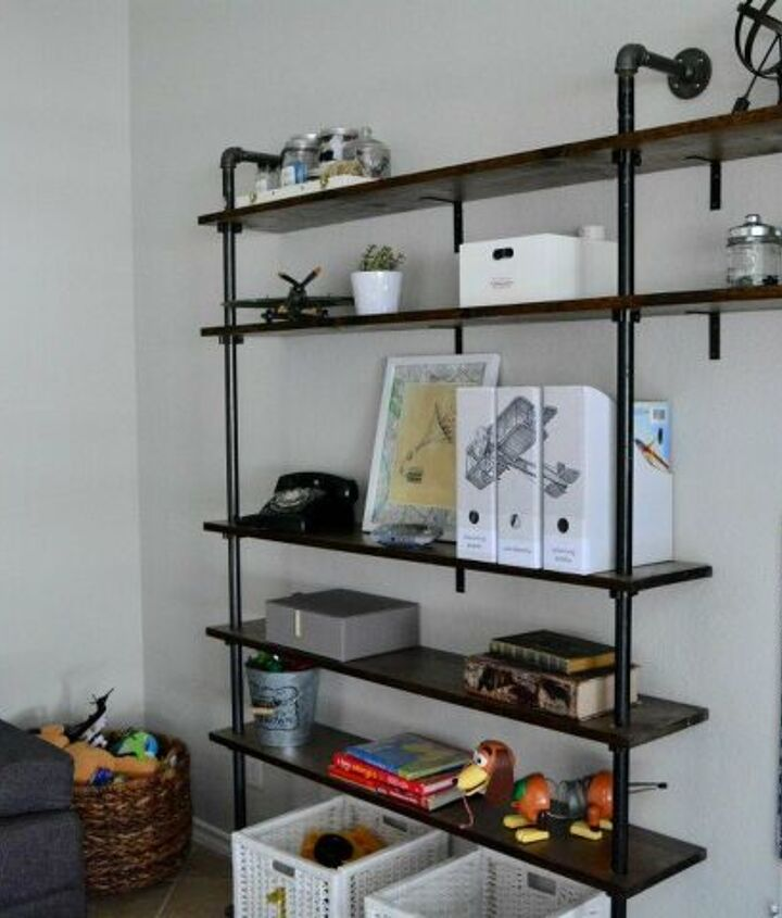 cheap DIY Pipe Shelves