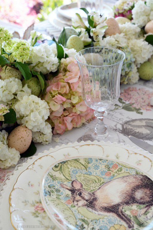 create a fresh floral table runner for easter or spring
