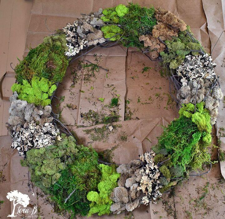 mixed moss grapevine wreath