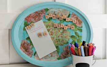 Upcycle a Tray Into a Magnetic Memo Board