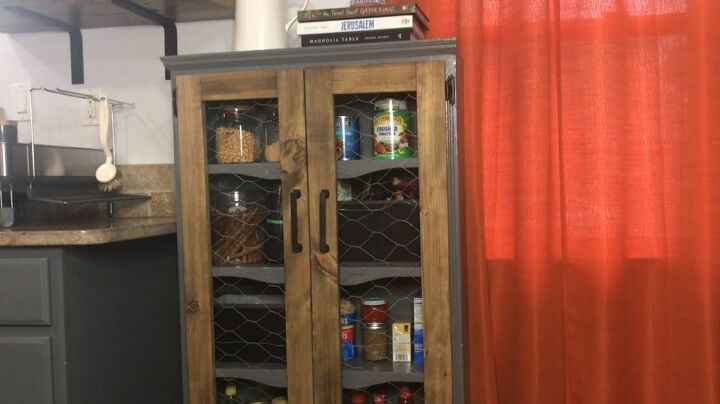 no kitchen pantry upcycle an old bookshelf into this
