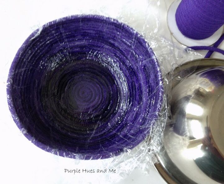make a decorative rope vase using a bowl