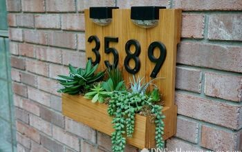 DIY Modern House Number Sign Using Hot Glue