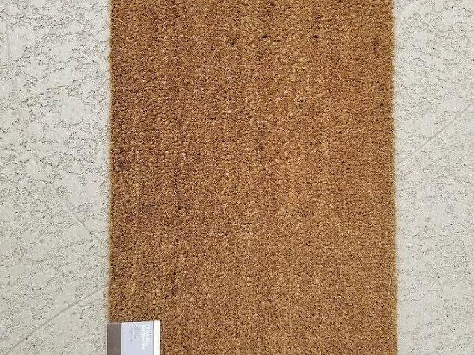 q how can i paint a coir door mat