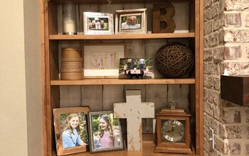Rustic Built in Bookcase Makeover