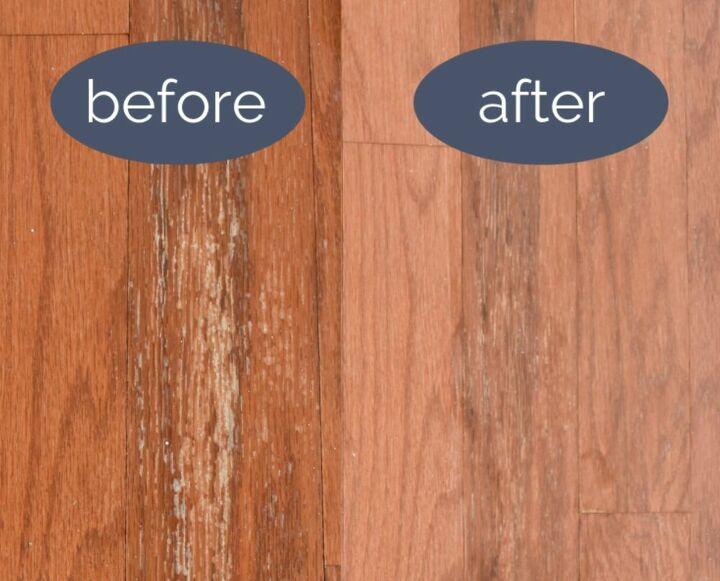 repair water damage on hardwood floors