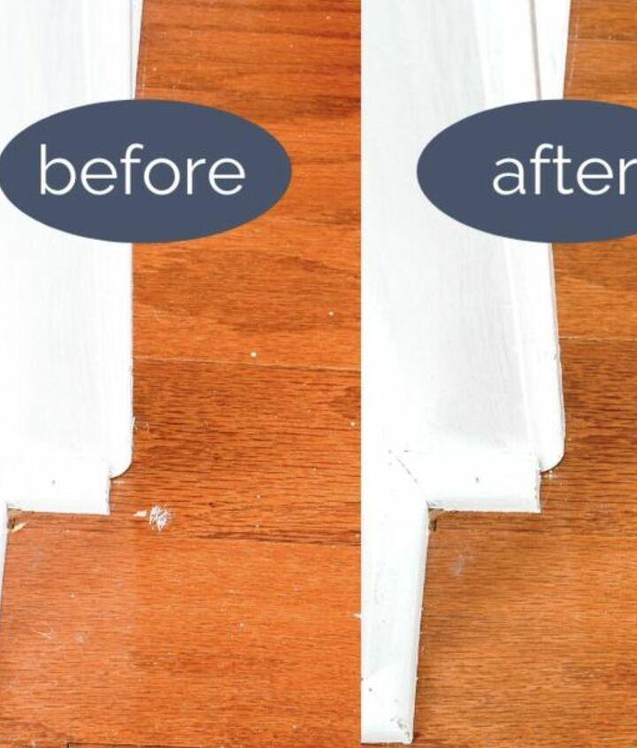 dried paint removal on hardwood flooring